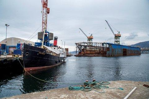 D/S Stavenes kan bli ett av de siste skipene som får en overhaling ved Noryards BMV.