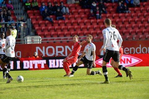 Fredrik Haugen leverte Branns andre mål i 51. minutt.