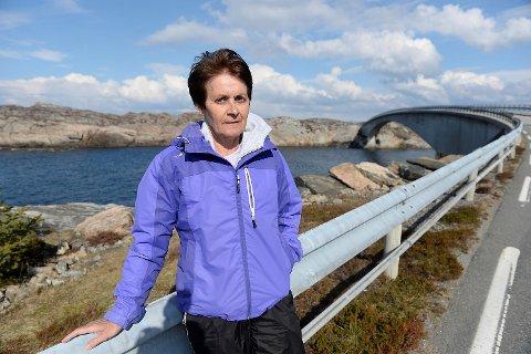 Sonja Langeland så at helikopteret styrtet.
