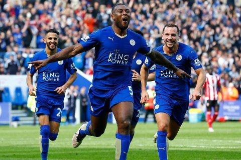 Wes Morgan scoret kampens eneste mål. Dermed har Leicester syv poeng ned til Tottenham, og elleve til Arsenal, som har en kamp mindre spilt.