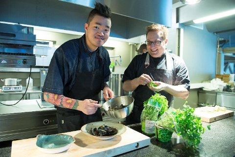 Kim-Andre Samnøen og Thomas Madsen disker opp.