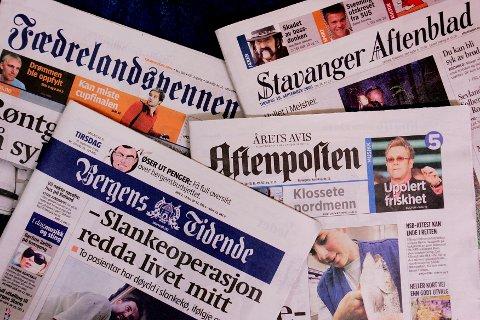 """OSLO 20060922: Styrene i Bergens Tidende AS, Fædrelandsvennen AS, Aftenposten AS samt konsernstyret i Schibsted ASA har i dag sluttet seg til en intensjonsavtale om eiermessig integrasjon og etablering av et nytt børsnotert mediekonsern kalt """"Media Norge"""". Stavanger Aftenblad ASA vil behandle intensjonsavtalen i sitt styremøte mandag 25. september. Foto: Stian Lysberg Solum / SCANPIX ."""