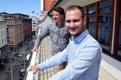 Erik Dalland (t.v.) og Dennis Stokseth i Wipe AS samler små rengjøringsbyrå og foretak i en digital plattform som markedsføres som Freska. De mener deres løsning kan få bukt med en god del av den svarte omsetningen som renholdsbransjen er plaget med.