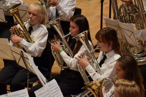 Tertnes skoles musikkorps fikk 99 poeng i NM 2016.
