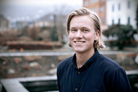 Sondre Hansmark Persen, leder i Bergen Unge Venstre