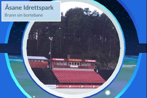 Slik beskrives Åsane idrettspark i Pokémon Go.