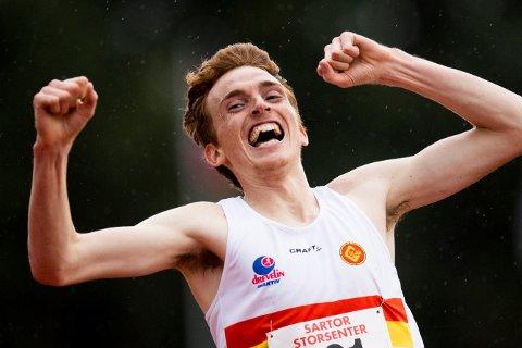 Marius Vedvik var en av fem lokale gullvinnere på åpningsdagen av friidretts-NM på Ravanger.
