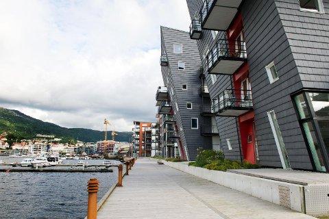 Ternen borettslag ved Puddefjorden i Bergen.