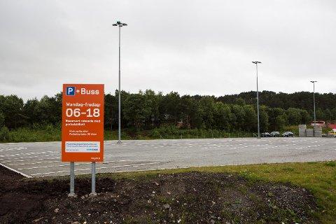 Mellom Åsane senter og Horisont ligger den nye innfartsparkeringen.