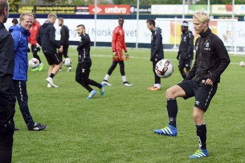 Håkon Lorentzen har trent med Kristiansund Ballklubb denne uken.