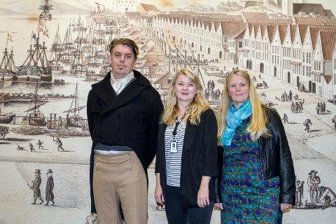 Aldri før har de tre museene samarbeidet om en utstilling. På bildet: Lars Voss Sørhus, Line Daatland og Siri Skretting Jansen.