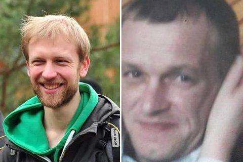 Disse to mennene er savnet. Tomasz Ziolkowski (30) til venstre. Aidas Kackiukas (40) til høyre.