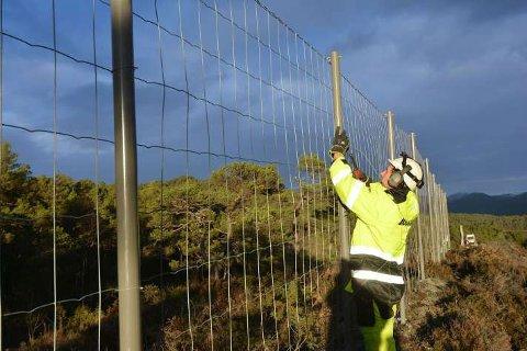 Arbeidet med det nye viltgjerdet startet før jul, og har nå startet opp igjen etter en pause i vinter.