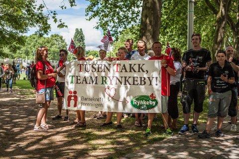 En norsk fanklubb som heier frem det norske laget i Team Rynkeby.