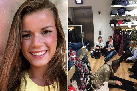 Erica Kronheim ble holdt inne i Gap-butikken med andre kunder i halvannen time.
