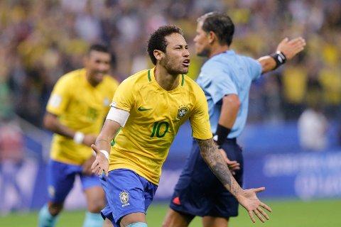 Brasil og Neymar har scoret 15 mål på de fire siste kampene mot Japan.