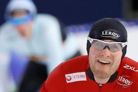 Sverre Lunde Pedersen dro fem av åtte runder da Norge tok bronse på lagtempoen i skøyte-VM. (Arkivfoto: NTB scanpix)