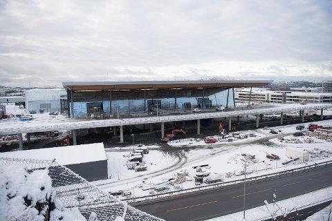Slik så det Nye terminalbygget på Flesland ut i starten av januar i år.
