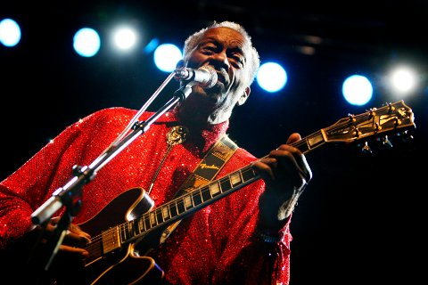 Chuck Berry spilte på Sentrum Scene i Oslo i 2007.