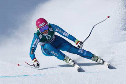 Maria Tviberg var best i fredagens utforrenn og tok sitt annet NM-gull i alpint på like mange dager i Narvik. (Foto: Cornelius Poppe / NTB scanpix)