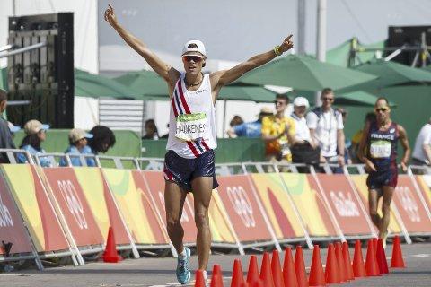 I fare: Bergenseren Håvard Haukenes gikk inn til en sterk 7.-plass i Rio på femmilen. Det kan ha vært siste gang at øvelsen er på OL-plakaten. Arkivfoto: NTB