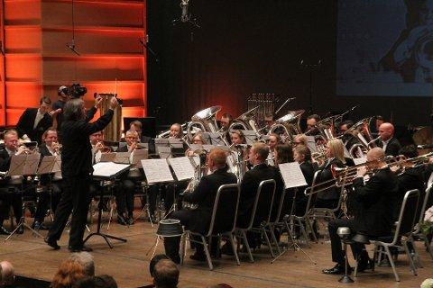 Eikanger Bjørsvik i aksjon under NM. Lørdag vant de EM, og Europas beste brassband kommer dermed fra Nordhordland.