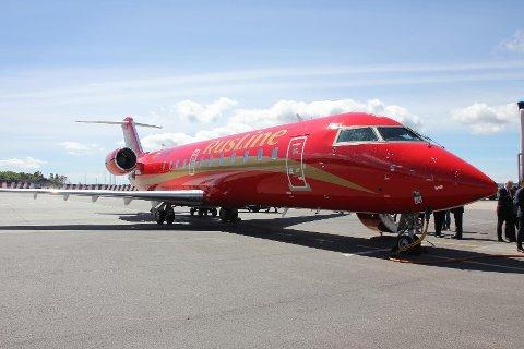 Ruslines karakteristiske røde og gullfargete fly landet på Flesland for første gang i går. Dette er den aller første direkteruten mellom Russland og Bergen.