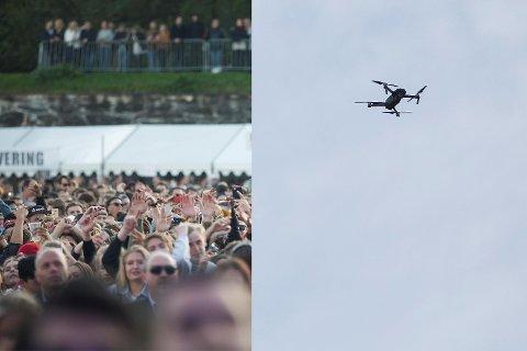 En person ble tatt for ulovlig droneflyging over The Weeknd-konserten tidligere i juli. Nå er politiet bekymret for uforsiktig bruk av droner.