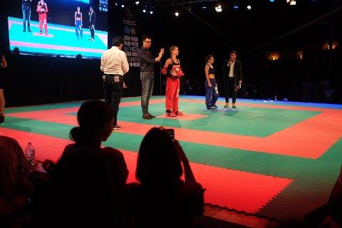 Monica Engeset gikk sin første proffkamp lørdag.