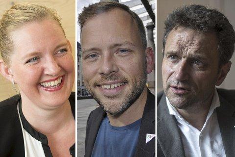 Jeanette Syversen (R), Audun Lysbakken (SV) og Arild Hermstad (MDG) er til sammen større enn Jonas Gahr Støre på denne hordalandsmålingen.