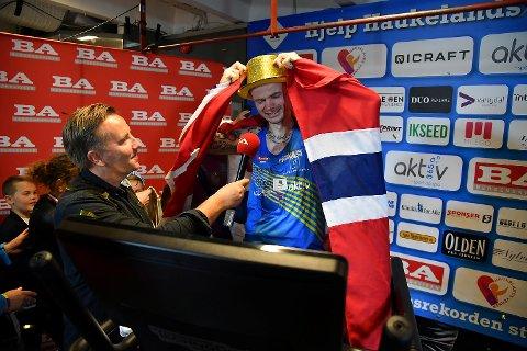 Bjørn Tore Taranger, som nå har verdensrekorden i 24-timersløp på tredemølle.