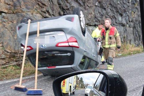 Ulykke i Hisdalen i Samnanger.