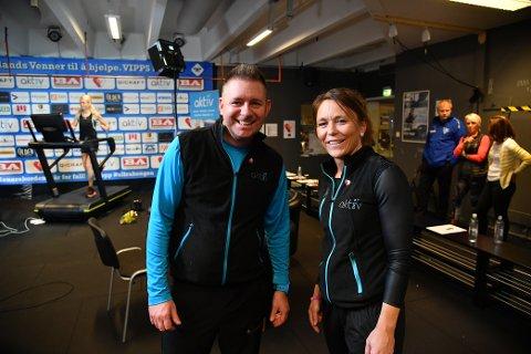 Ulf Hiis Bergh og Tina Eike Nilsen jobber begge på Aktiv 365, og har vært med under hele løpet.