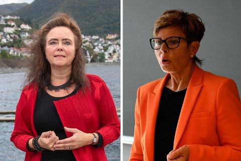Byutviklingsbyråd Anna Elisa Tryti (Ap) og fylkesordfører Anne-Gine Hestetun (Ap)