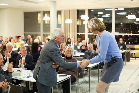 Trond Mohn fikk heder og ære på Haukeland på onsdag kveld.