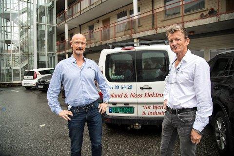Gunnar Frøland og Frode Noss solgte 100 prosent av aksjene i Frøland & Noss Elektro AS i fjor.