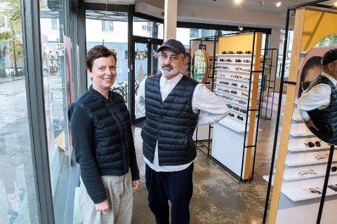 Kaibosh-eierne Michelle Rowley og Helge Flo gir ikke opp butikken i Bergen. Arkivfoto: Stian Espeland