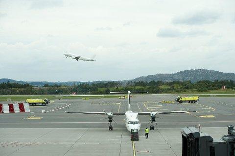 Nye Flesland terminal ble åpnet av statsministeren i august i fjor. (Arkiv)