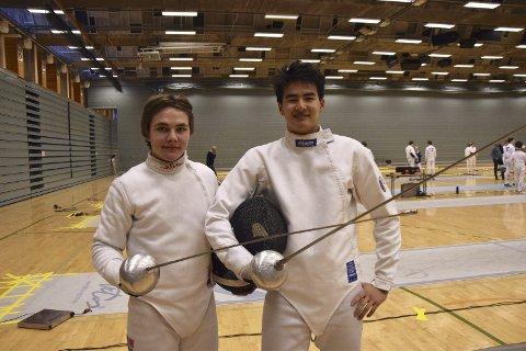 Visumtrøbbel stoppet Fabian Alfheim og Thomas Geitung fra EM-deltakelse, men lørdag fikk de hver sin NM-medalje i fekting.