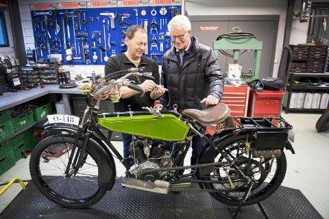 Wanderer ble laget i Tyskland mellom 1914 og 1918 – den gang første verdenskrig herjet. 100 år senere er motorsykkelen som tilhørte Moritz Hopland fullstendig restaurert av verksmester Arvid Håland.