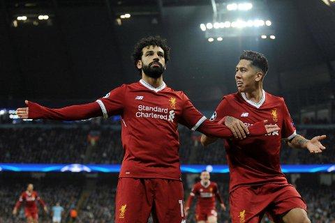 Liverpools to beste spillere denne sesongen, Mohamed Salah og Firmino, scoret begge da laget slo Manchester City 2-1 i Mesterligaen tirsdag.