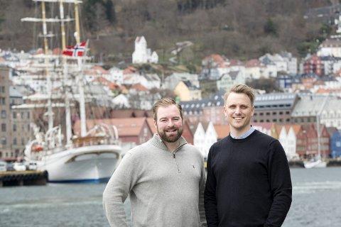 Prosjektleder Morten Dahl Sebjørnsen og daglig leder Haavard Nygård Monsen i Coevent AS er godt i gang med planleggingen av seilskutefestivalen Tall Ships Races 2019 i Bergen i juli neste sommer.