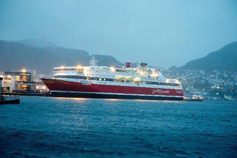 Fjord Lines MS «Stavangerfjord» er ett av skipene som går på LNG. FOTO: MAGNE TURØY