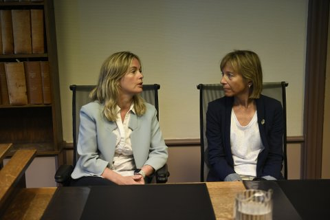 Mona Hellesnes og Marit Sælemyr, visepresident i Cykleforbundet.
