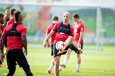 Ruben Kristiansen trente for fullt fredag, og er sannsynligvis på laget igjen mot Rosenborg søndag, etter et par uker ute med lyskestrekk.