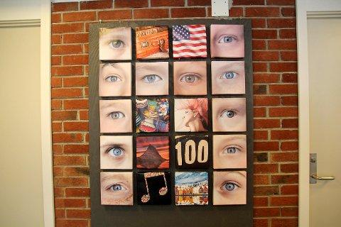 Kunst laget av femteklassingene ved Hellen skole.