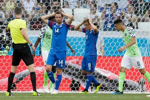 Island fikk det tøft mot Nigeria.