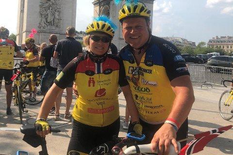 Jan Terje Espeland og Mariann Torkildsen syklet fra København til Paris.