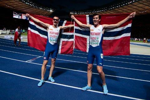 Jakob og Henrik Ingebrigtsen tok gull og sølv på 5000 meter!