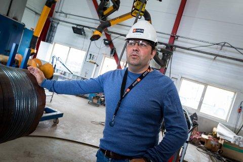 Oddbjørn Haukøy og PSW skal bygg ut for 150 millionar kroner på Mongstad det neste året. Det vil føre med seg opptil 50 nye arbeidsplasser. Foto: Yngve Garen Svardal, Avisa Nordhordland